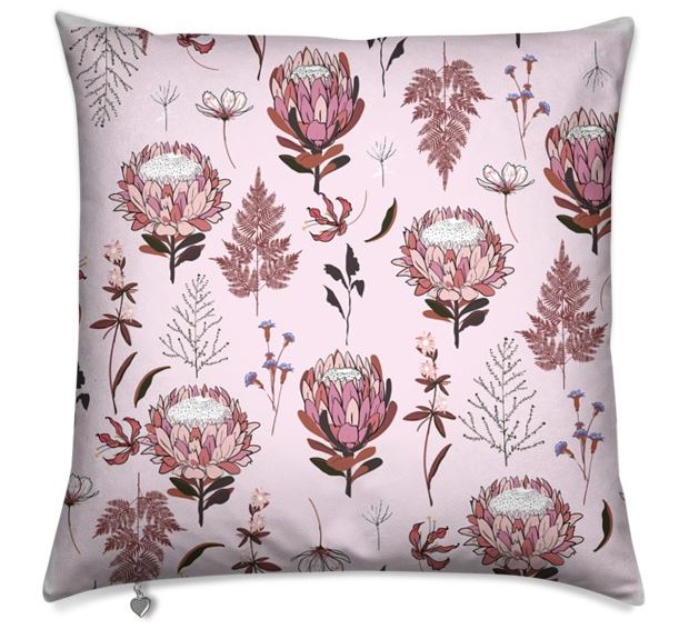 Pink Protea Cushion Cover
