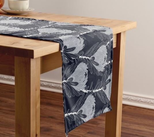 Black Protea Table Runner