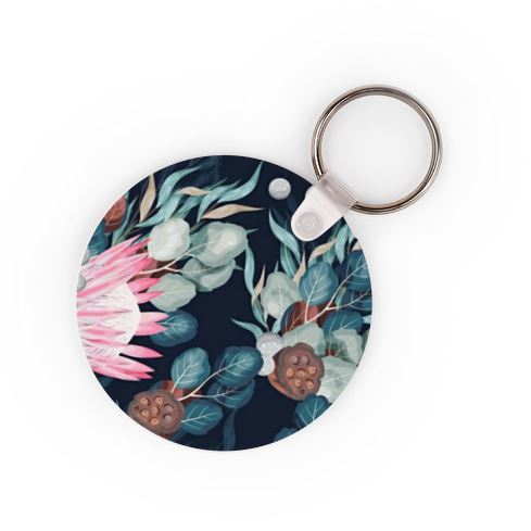 Protea Keyring - Available In 3 Shapes