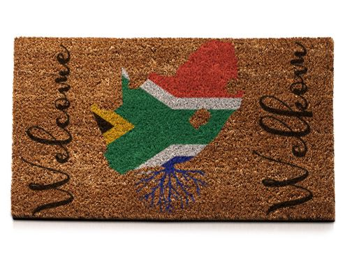 Welcome...Welkom..South African Roots...Flag... - Doormat