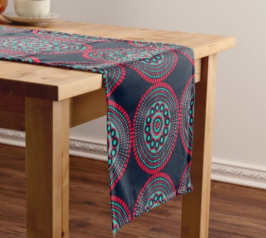 Black and Red Table Runner