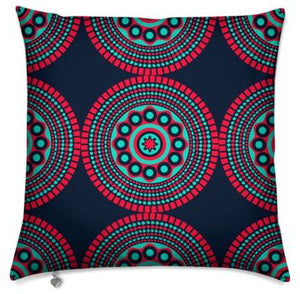Red Black Shweshwe Cushion Cover