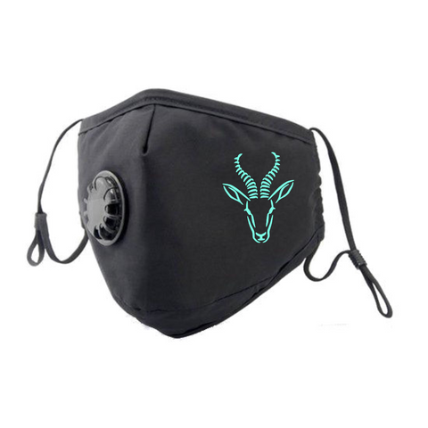 Springbok Face Mask - Turquoise