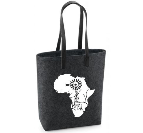 Windmill Africa - Felt Bag With Leather Handles