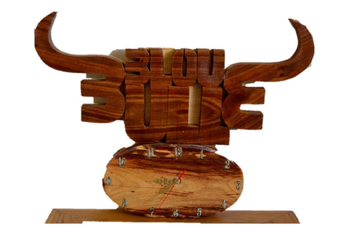 Blue Bull Wall Clock - FleaWeb