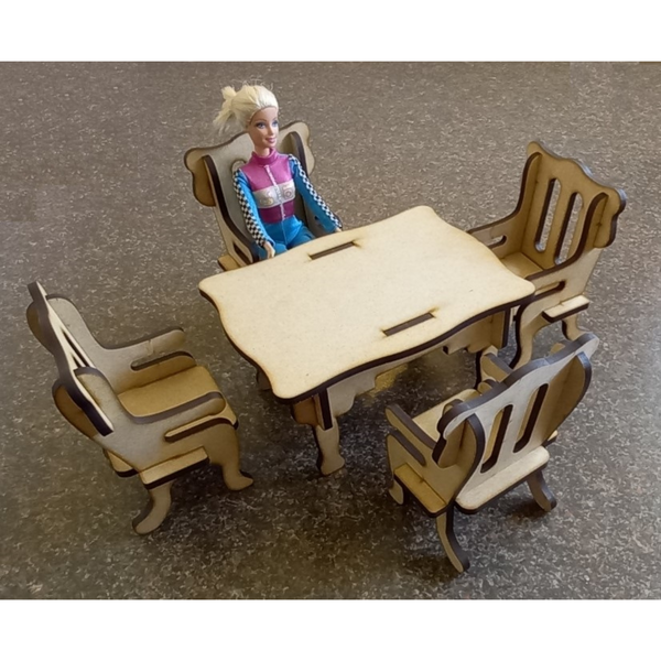 Barbie Dining Table and Chairs - FleaWeb