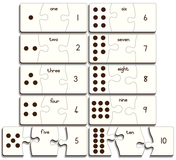 One To Ten Puzzle (dots, names & numbers) – Gr R - FleaWeb