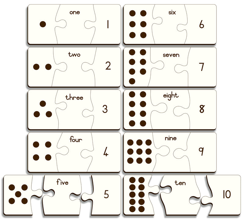 Numbers one To Ten Puzzle (dots, names & numbers) – Gr R  Afr - FleaWeb