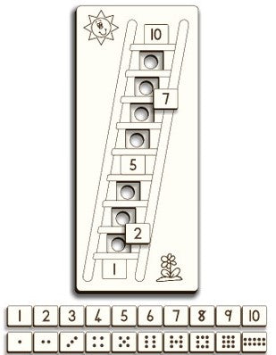 Number Ladder puzzle - Gr R - FleaWeb