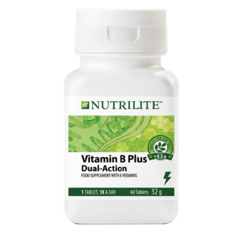 Nutrilite VITAMIN B PLUS Dual-Action 60 Tablets - FleaWeb