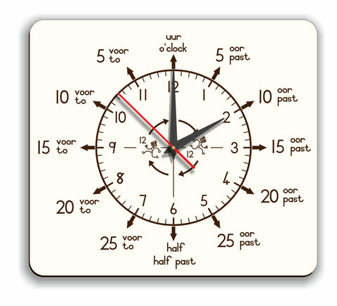 Wall Clock – Teacher Analogue (Eng./Afr.) - FleaWeb