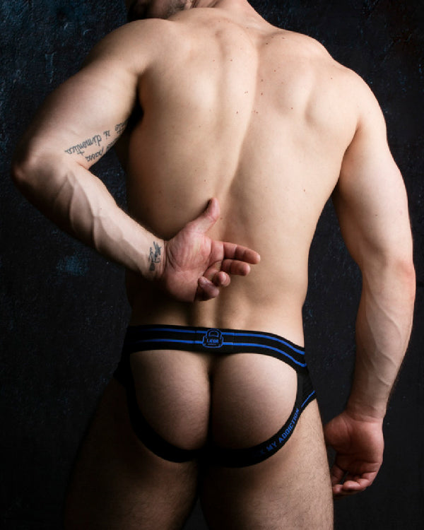 Bottomless Brief with Front Opening - Blue