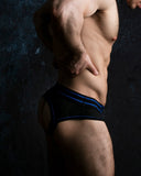 Bottomless Brief with Zipper - Blue
