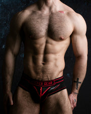 Bottomless Brief with Zipper - Red