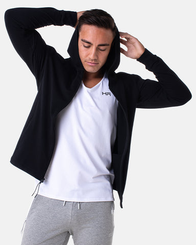 Core Zip Up Hoodie - Black