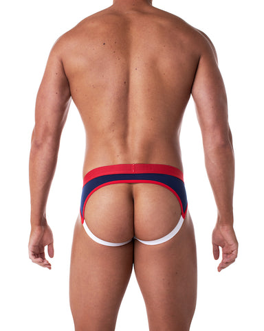 Brave Enhancing Jock - Navy/Red