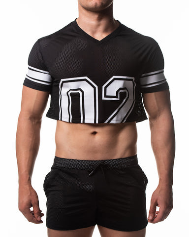 Touchdown Crop Top - Black
