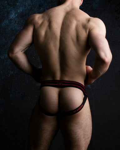 Front Opening Jockstrap - Red