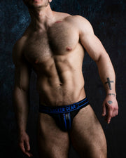 Zippered Jockstrap - Blue