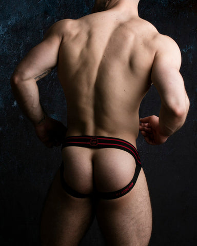 Zippered Jockstrap - Red