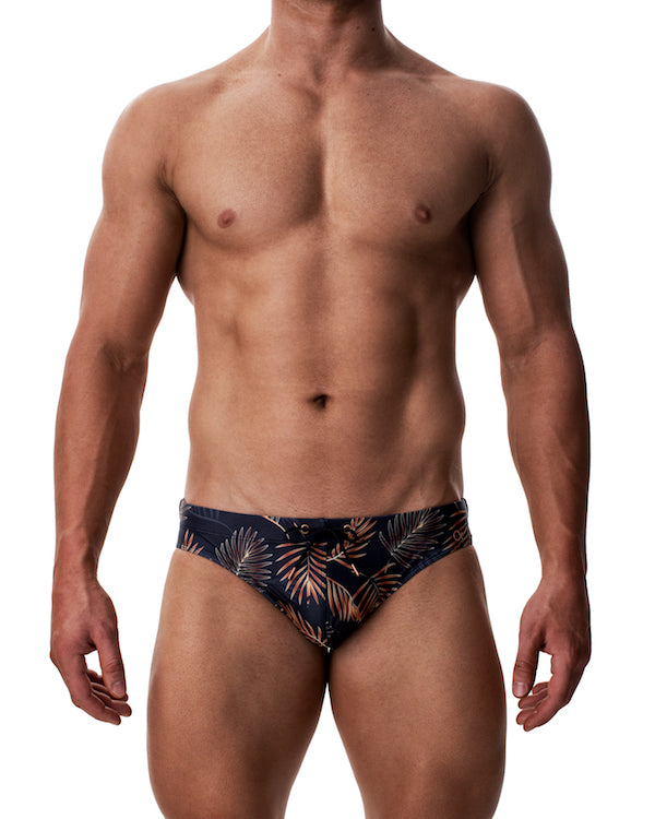 Kos Enhancing Swim Brief - Golden Palms