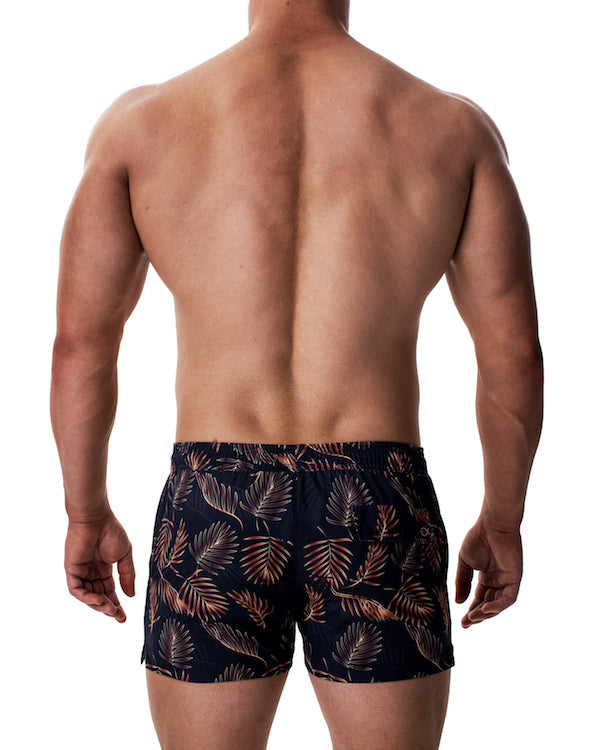 Titan Swim Short - Golden Palms