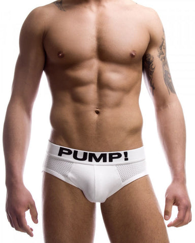 Touchdown Classic White Brief PUMP!