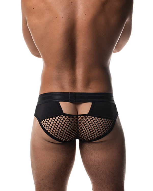 Field Mesh Brief - Black Varsity