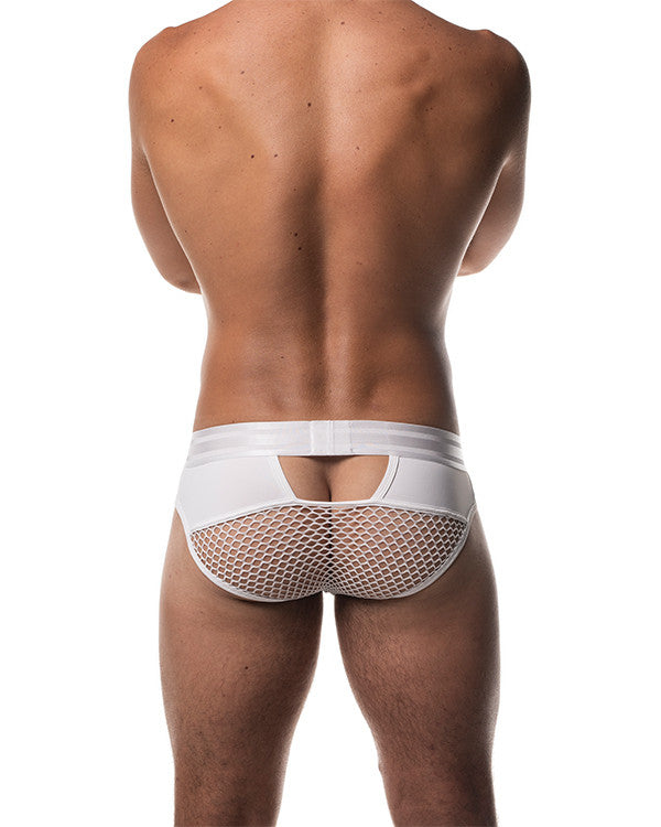 Field Mesh Brief - White Varsity
