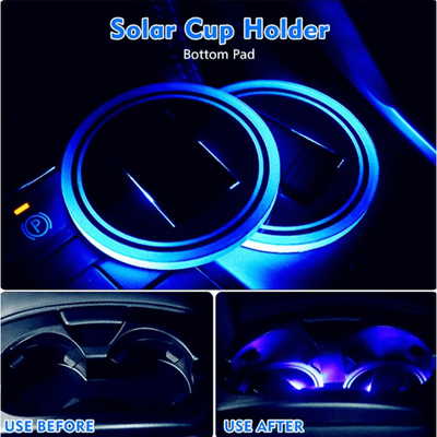 Universal Solar LED Cup Bottle Holder Pad - Trendy Cyborg