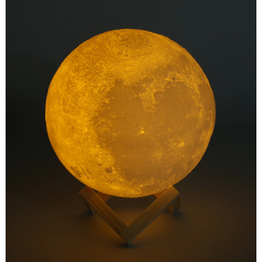 Rechargeable 3D Moon Lamp - Trendy Cyborg