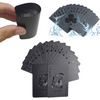 Black Matte Plastic Poker Cards - Trendy Cyborg