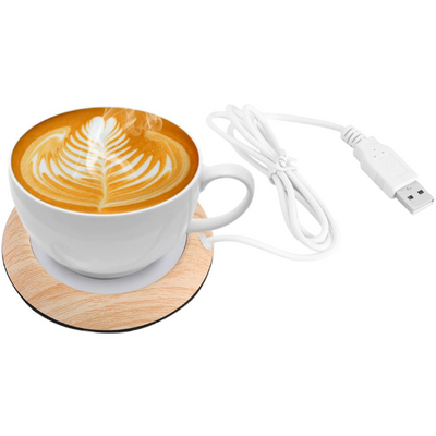 USB Wood Grain Cup Warmer - Trendy Cyborg