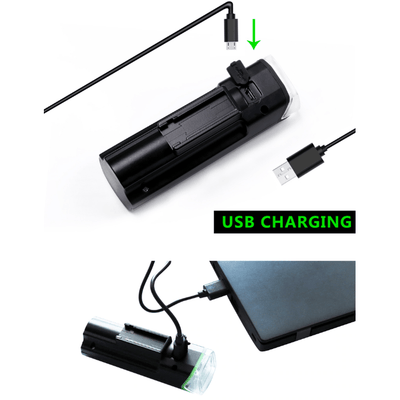 Bike Waterproof Front Light Bicycle USB Charging Flashlight - Trendy Cyborg