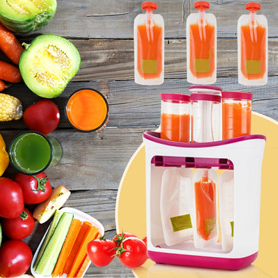 Squeeze Station- Children's Food Mashing Packing Machine - Trendy Cyborg
