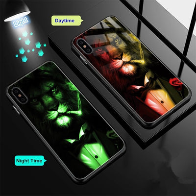 Glass Case For iPhone 7 8 Plus Case - Trendy Cyborg