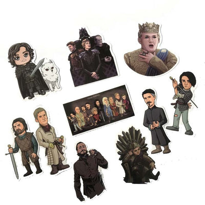 Game of Thrones Decal Cartoon Stickers - Trendy Cyborg