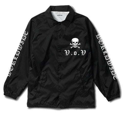 "V.O.V SKULL ""POCKET HIT"" COACHES JACKET"