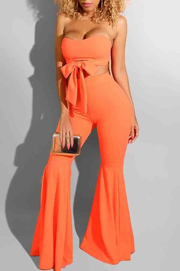 Sleeveless Solid Color Bandeau Bodycon Playsuit