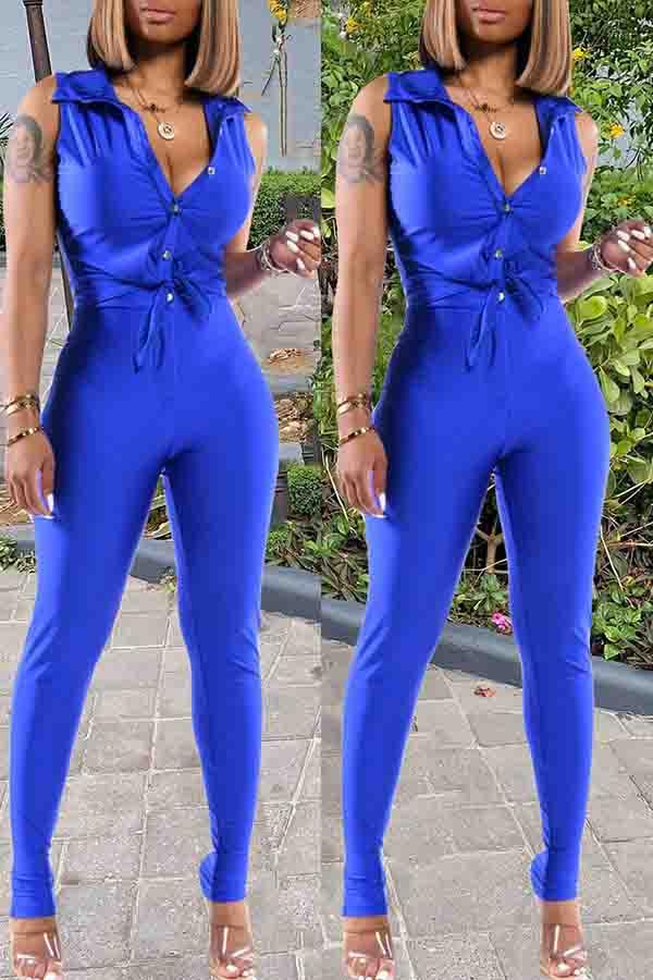 Sleeveless Solid Color Turtle Neck Bodycon Playsuit
