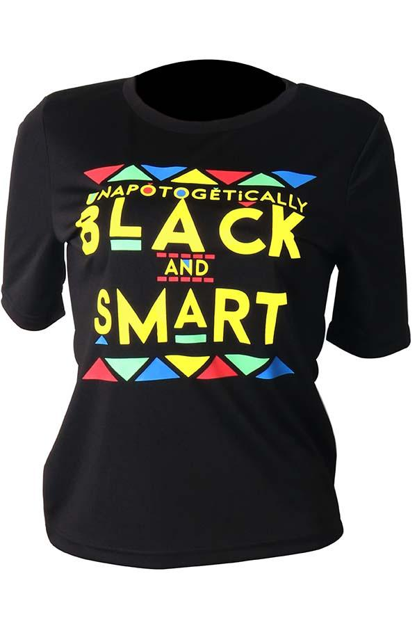 Short Sleeve Letter print Round Collar Casual Wear T-Shirt