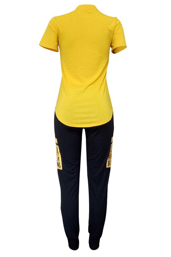 Short Sleeve character Round Neck Casual Wear Set