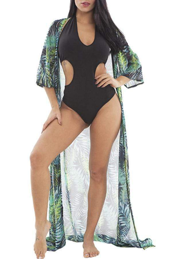 Long Robe & Swimsuit