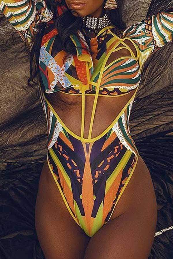 Abstract Print Monokini