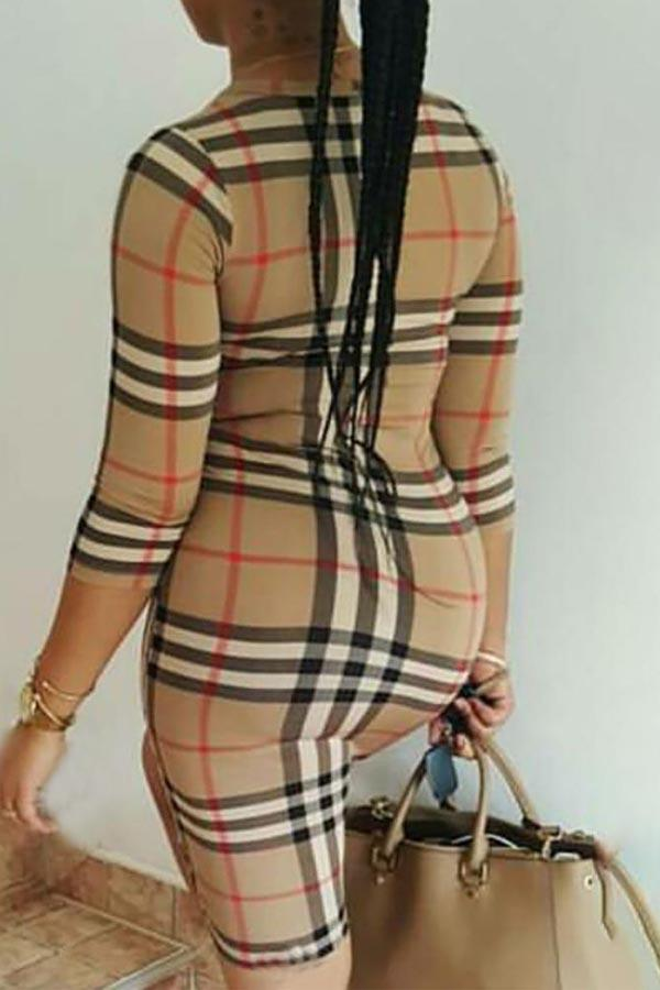 Chequered Slim Dress