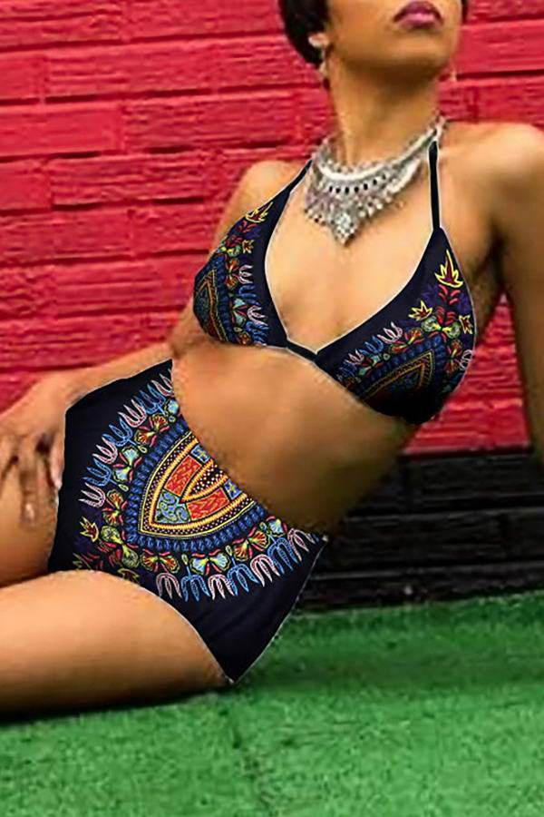 High Waist Tribal Bikini