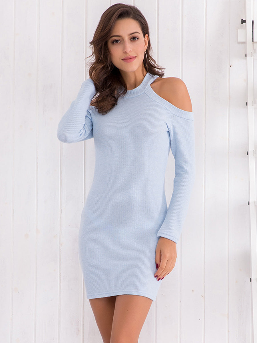 2018 New Halter Knitted Slim Bodycon Dress