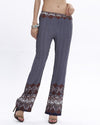 Floral Printed Long Pants Female Trousers