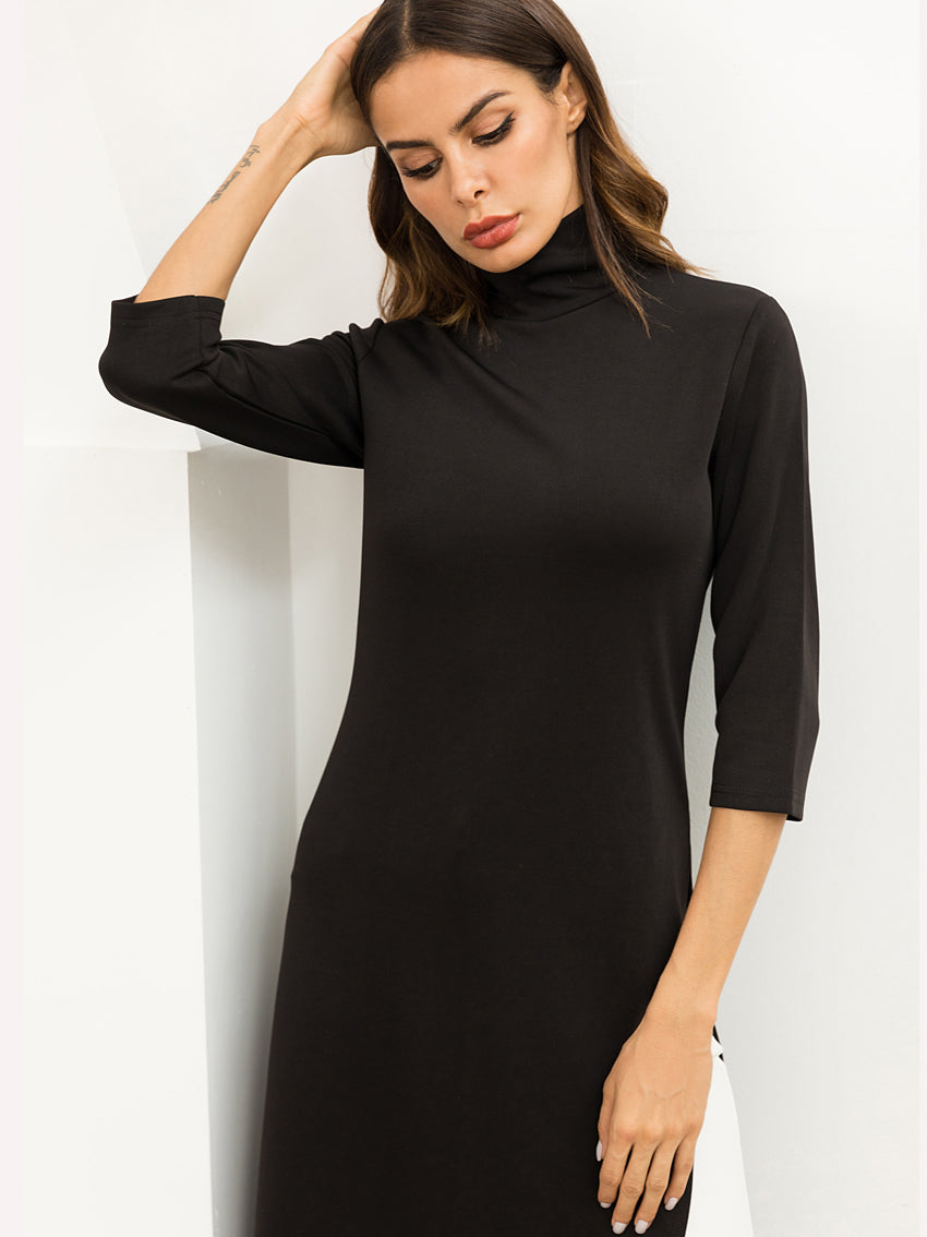 Autumn Knit Stretch Dress - sparshine