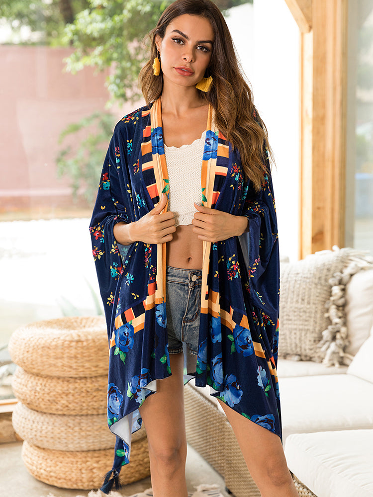 Over Size Printed Outer Cardigan